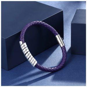 Bracelet personnalisable 5 inscriptions
