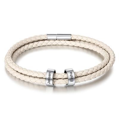 Bracelet personnalisé prénom cuir