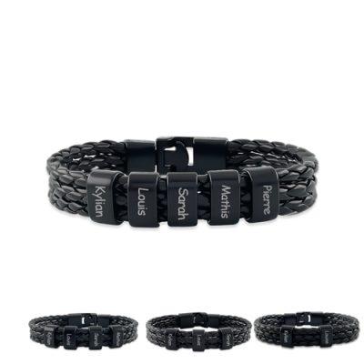Bracelet homme personnalisé prénom bracelet à personnaliser de 1 à 5 prenons