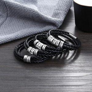 Bracelet tressé personnalisé