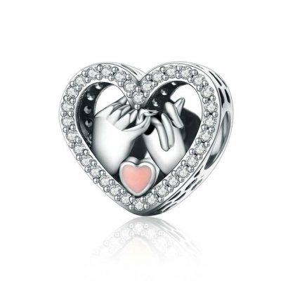 Charm Promesse d'amour en argent