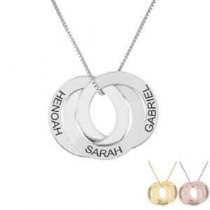 Collier 3 anneaux entrelacés