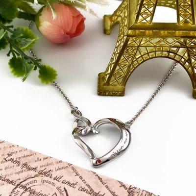Collier personnalisé coeur infini