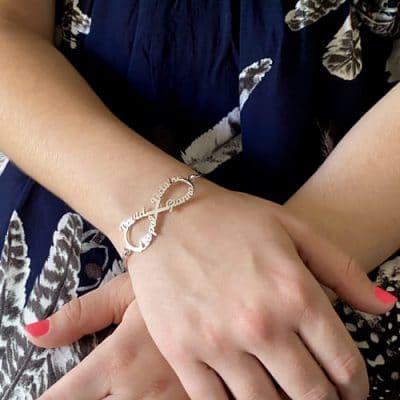 Bracelet Jonc infini en argent 925