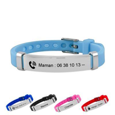 Bracelet SOS identification pour enfant sécurité