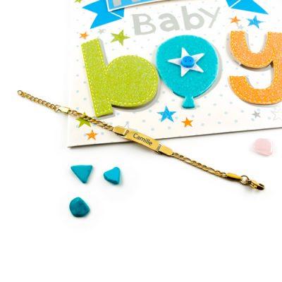 Bijou personnalisé pour enfant Gourmette à graver pour bébé