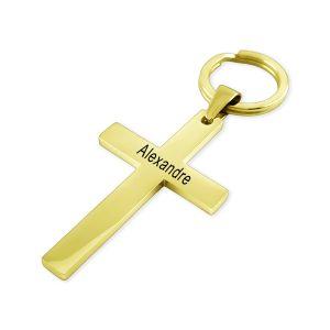 Porte-clés croix personnalisé