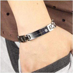 Gourmette personnalisée bracelet magnétique