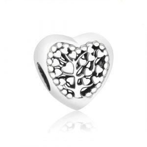 Charm cœur arbre de vie en argent