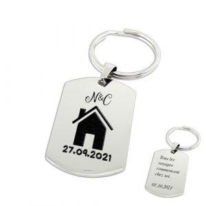 Porte-clés crémaillère personnalisé